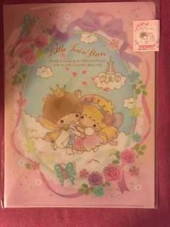 Little Twin Stars Plastic folder (2 sets)