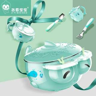 Baby stainless steel warming bowl