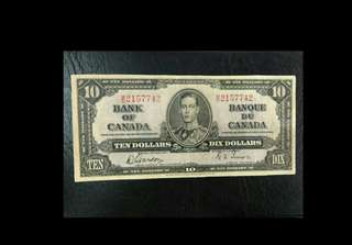 Canada 10 dollars King George 1937 issue