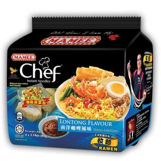 5入任選55元馬來西亞MAMEE CHEF金廚南洋咖哩風味麵 89g金廚泡麵(一入) 方便麵 速食麵
