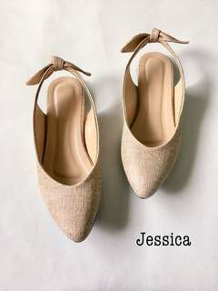 Closed toe pointed flats