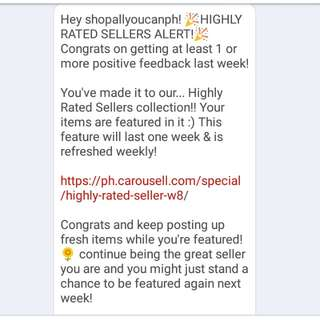 Highly Rated Sellers Alert