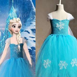 Frozen Dress/height 90 to 140 cm