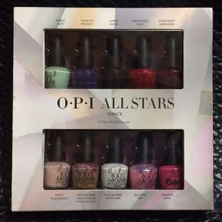 OPI All Stars 10色指甲油