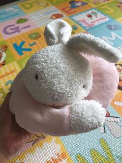Bunnies by the bay bunny pillow
