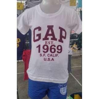 GAP T-shirt &  GeeJay Sport Shorts ( 2 to 4 years old )