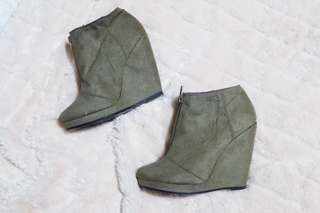 Divided by H&M Suede Wedge Booties