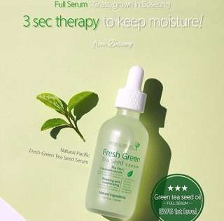 Natural pasific fresh greentea seed serum