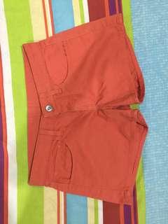 Uniqlo Orange Mini Shorts