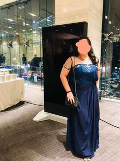 Midnight Blue Gown (Plus Size)