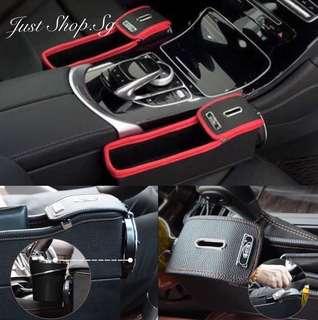 Leather Car Seat Side Holder