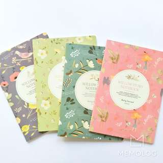 Willow Story Flowers and Leaves Illustration Notebook