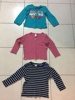 Long sleeves for baby girl 12-18 months