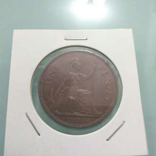 England 1964 1 Penny