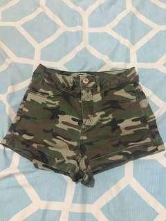 Camou Highwaisted Shorts