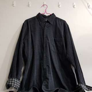 Uniqlo Grey Long Sleeve Collared Shirt