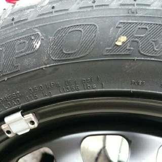 VW /Audi 輪胎鐵框含Dunlop 205 55/R16輪胎