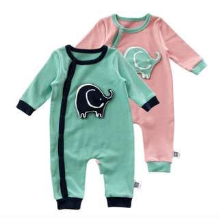 Elephant Baby Jumpsuit, Romper, Sleepsuit, Bodysuit, Clothing