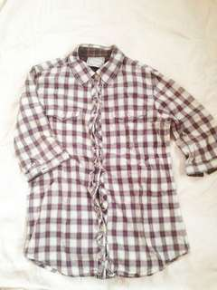Plaid Button Down Polo