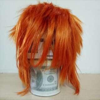 🚚 橘色假髮 已包含髮網 可議價可換物