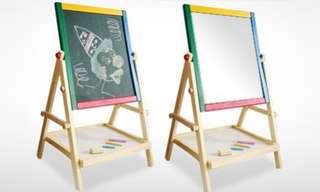 2in1 Wooden Blackboard/Whiteboard