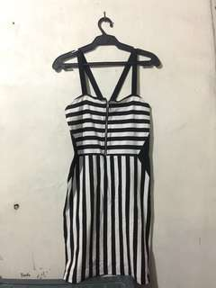 Black&White Fitted Dress