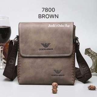 Giorgio Armani Sling Bag (Brown)