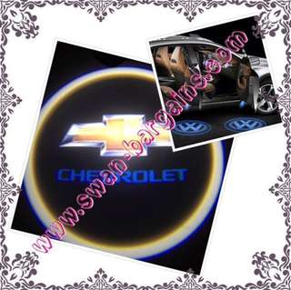2pcs Chevrolet Logo Magnetic Wireless Car Door Ghost Shadow Courtesy Greetings External Stand-alone Projector LED Light