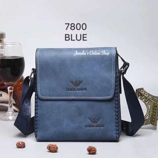 Giorgio Armani Sling Bag (Blue)