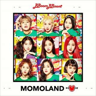 ON HAND SEALED ALBUM MOMOLAND BBOOM BBOOM W/ POSTER