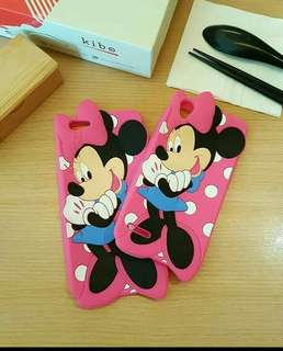 3D pinky minnie smile silicone case