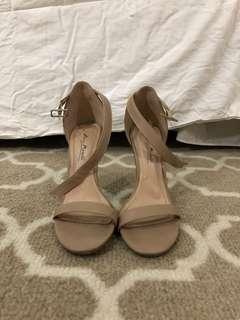 Tan Strappy Heels size 6