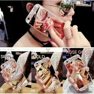 Fuze mirror luxury diamond with bear stand case