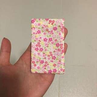 Card Holder handmade floral pink