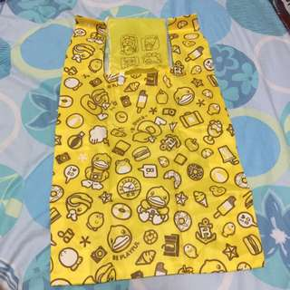 B-Duck 黃色 環保袋 背心袋 recycle bag 膠袋