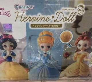 白雪公主 Snow White 貝兒 Belle 灰姑娘 Cinderella 扭蛋