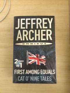 Jeffrey archer- first among equals, cat o'nine tales brand new