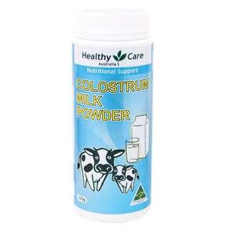 牛初乳奶粉【澳洲代購】Healthy Care-Colostrum Powder 300g 牛初乳奶粉