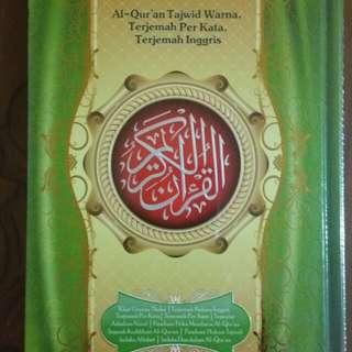 Al Quran - Al Jamil Tajwid Warna, Terjemah Per Kata Bahasa Indonesia dan Bahasa English