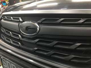 Forester grill wrap with logo decal