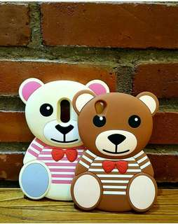 3D striped moschino bear silicone case
