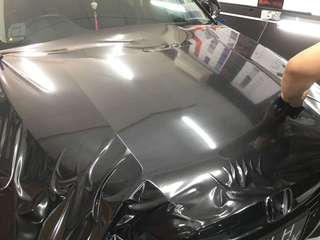 Carbon bonnet wrapping