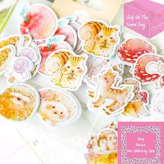 70pcs Romantic Stickers Cake Frost Flakes