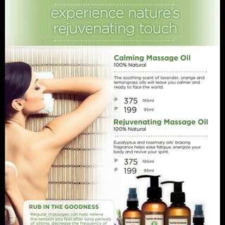 human nature massage oils