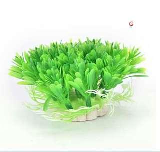 仿真水草花魚缸植物 G款
