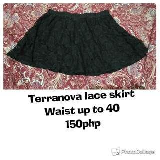 *Plus size* Terranova lace skirt