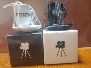 "BNIB Univerdal Studio ""Best Actor & Best Actress"" Mini Cup with Saucer"