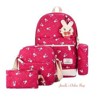 4-in-1 Backpack Set RED
