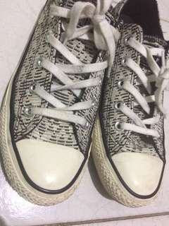 Black and White Converse Sneakers