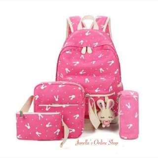 4-in-1 Backpack Set PINK